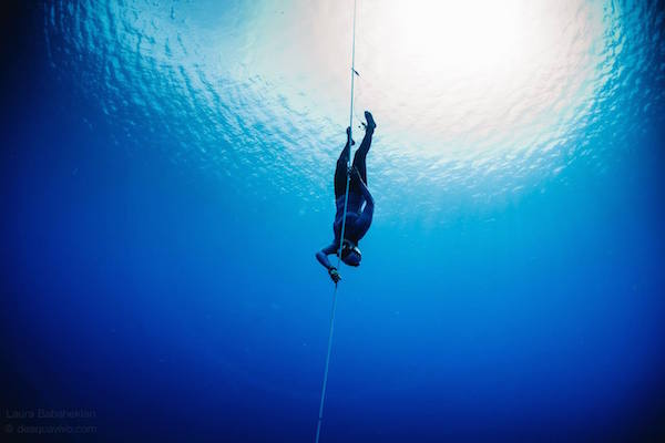 Halfway at the nirvana oceanquest freediving competition - Dive recorder results ...