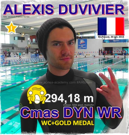 Alexis Duvivier new DYN CMAS World record