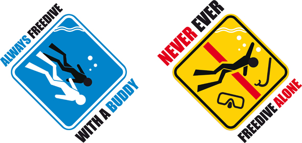 Never Ever freedive alone, safety first