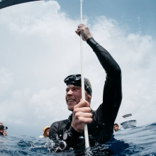 Sam Tucker Nirvana Onceanquest freediving competition Colombia