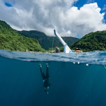 Blue element Freediving competition 2016 in Dominica