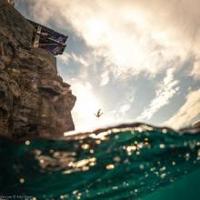 In Water Photographer of the Year Category winner Cliff Diving Italia by Alex Voyer