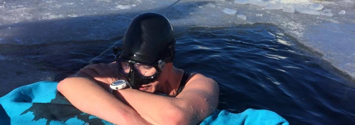 Johanna Nordblad 50M Freediving guiness record