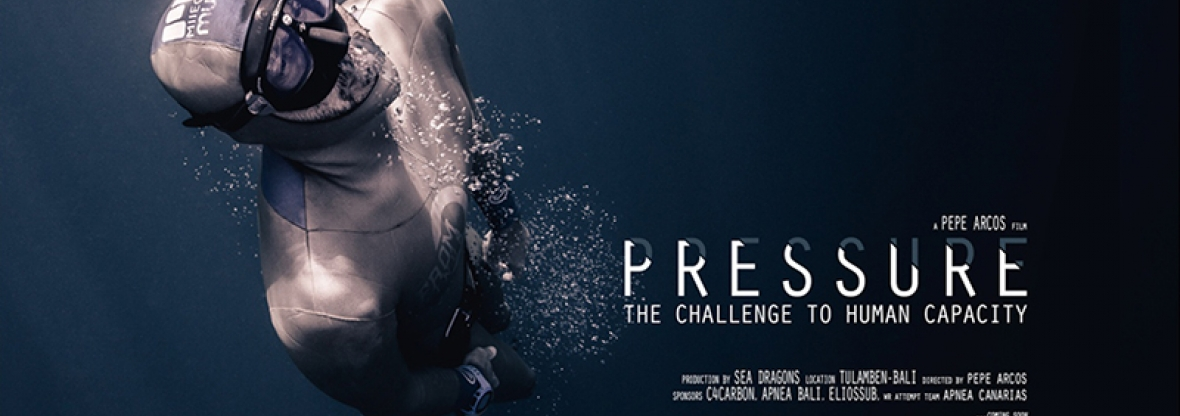 Pressure by Pepe Arcos freediving world record attempt
