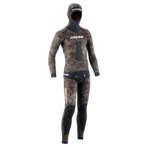 cressi tracina brown camo spearfishing wetsuit