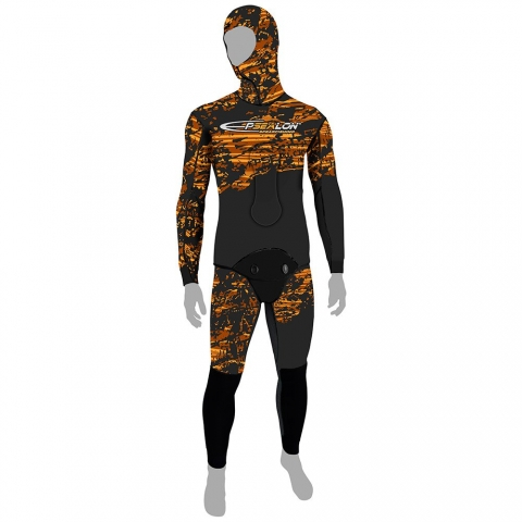 epsealon fusion camo red spearfishing wetsuit