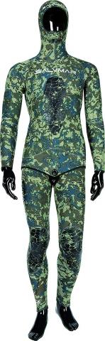 salvimar nat green camo spearfishing wetsuit