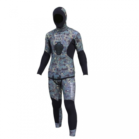 sopras apnea blue camo spearfishing wetsuit