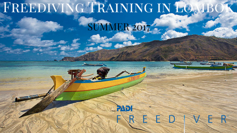 PADI freediving course Indonesia Lombok Christophe Leray