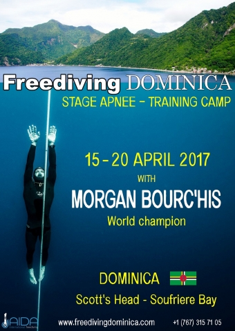 Depth training camp with world champion Morgan Bourc'his freediving Dominica