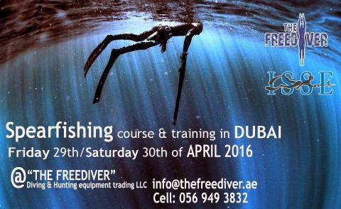 Spearfishing training camp Dubai