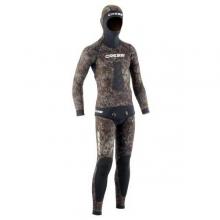 cressi tracina brown camo spearfishing wetsuit