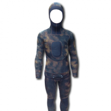 Hi Heat Rusty Reef Brown Camo Spearfishing Wetsuit