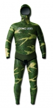 polosub green smoothskin decomposed camo wetsuit
