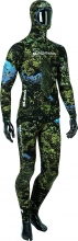 salvimar blend green blue camo spearfishing wetsuit