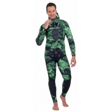 seacsub tattoo flex green camo spearfishing wetsuit