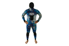 venture ono 3.5mm blue camo spearfishing wetsuit