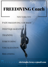 Freediving coach Christophe Leray
