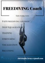 Freediving coach Christophe Leray