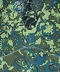 salvimar nat green camo spearfishing wetsuit swatch